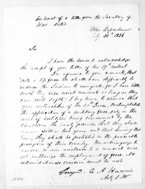 Carey A. Harris to Unknown, July 30, 1836