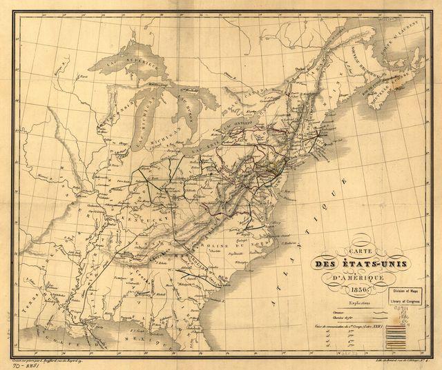 Carte des États-unis d'Amérique.