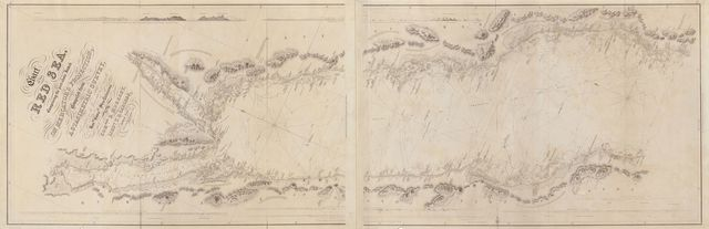 Chart of the Red Sea : comprising the part above Jiddah, on Mercator's Projection, compiled from a stasimetric survey executed in the years 1830, 31, 32 and 33 in the Hon. Company's Ship Palinurus /
