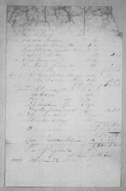 Darius Clagett & Company to Andrew Jackson, April 22, 1836