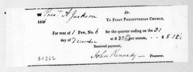 First Presbyterian Church to Andrew Jackson, December 31, 1836