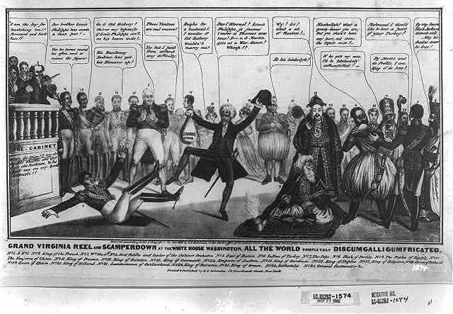 Grand Virginia reel and scamperdown at the Whitehouse Washington