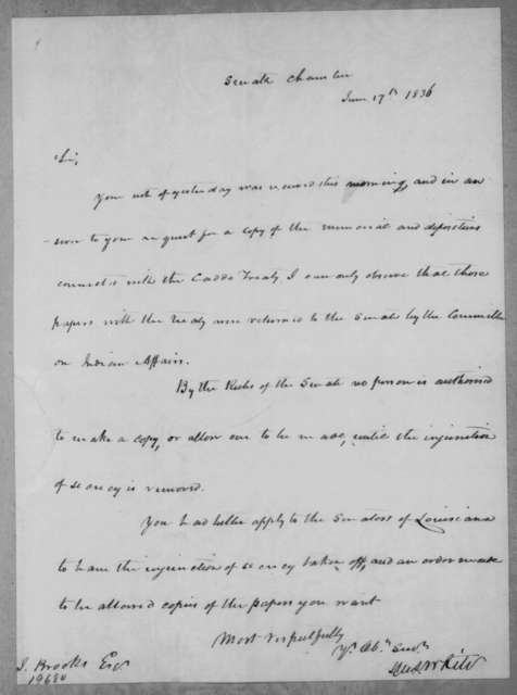 Hugh Lawson White to J. Brooks, June 17, 1836