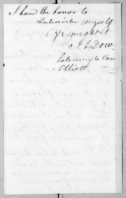 J. E. Dow to Andrew Jackson, July 6, 1836