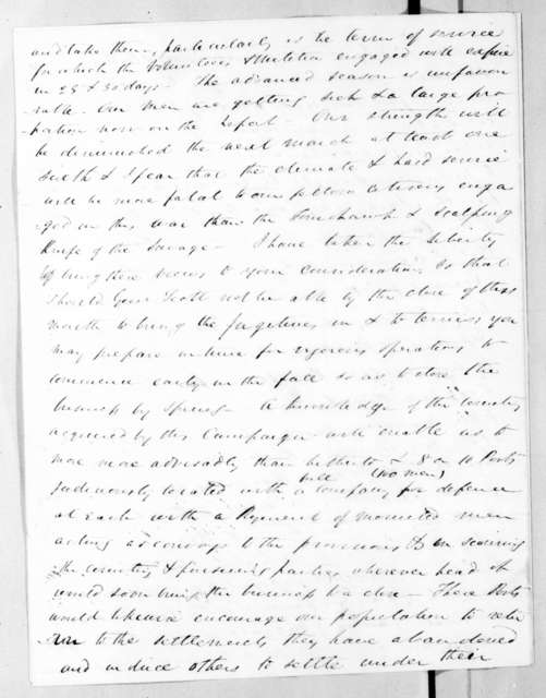 James Gadsden to Andrew Jackson, April 9, 1836