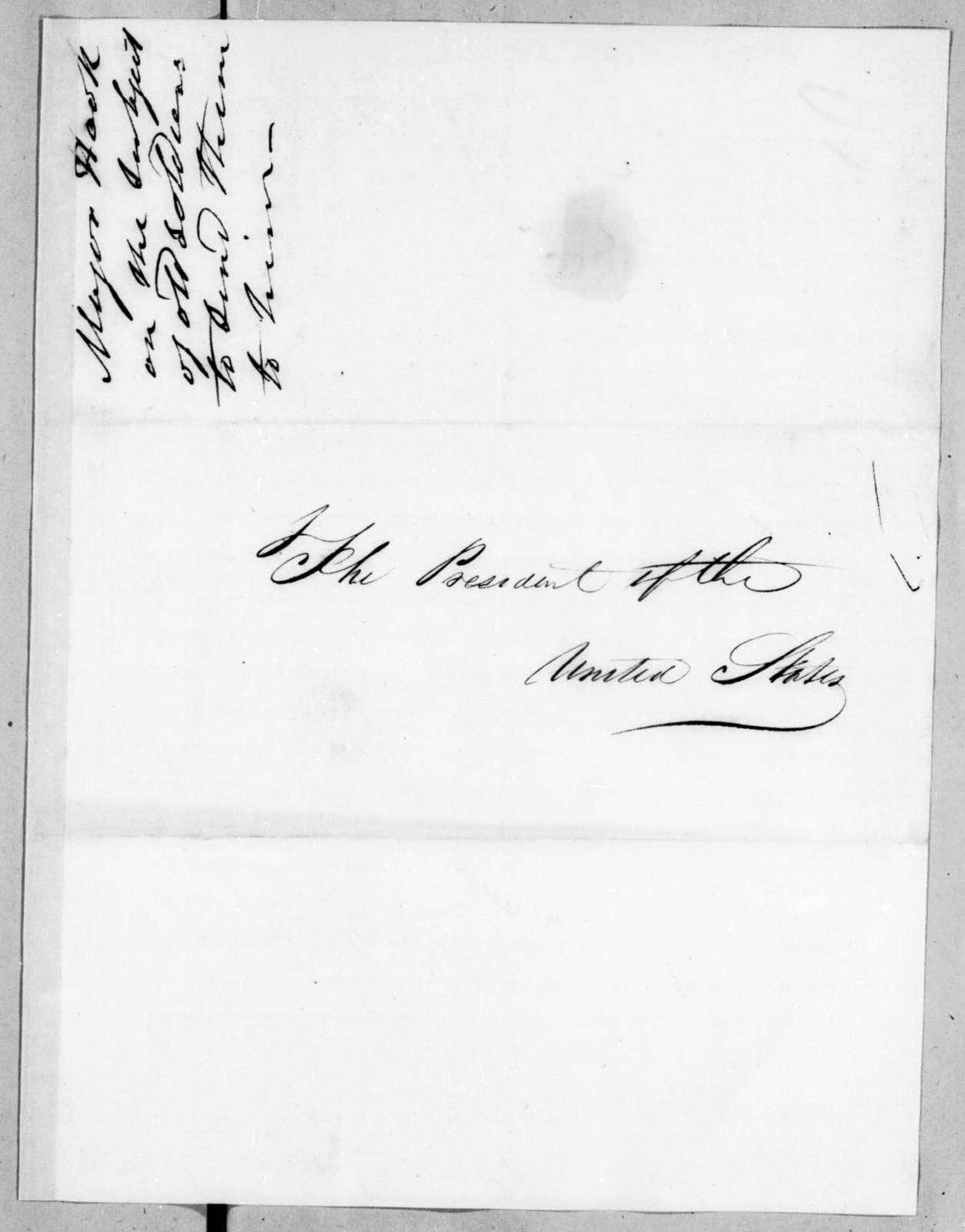 James Harvey Hook to Martin Van Buren, July 4, 1836