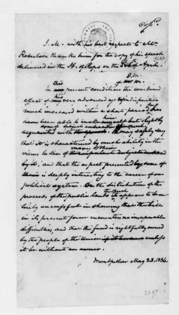 James Madison to Robertson, May 23, 1836.