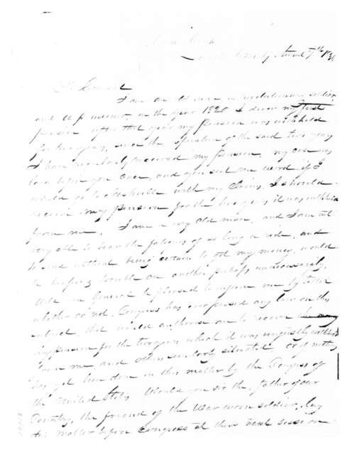 Jesse Dodd to Andrew Jackson, August 7, 1836