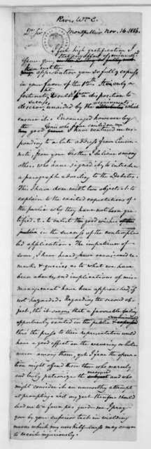 John C. Payne to William C. Rives, November 16, 1836.