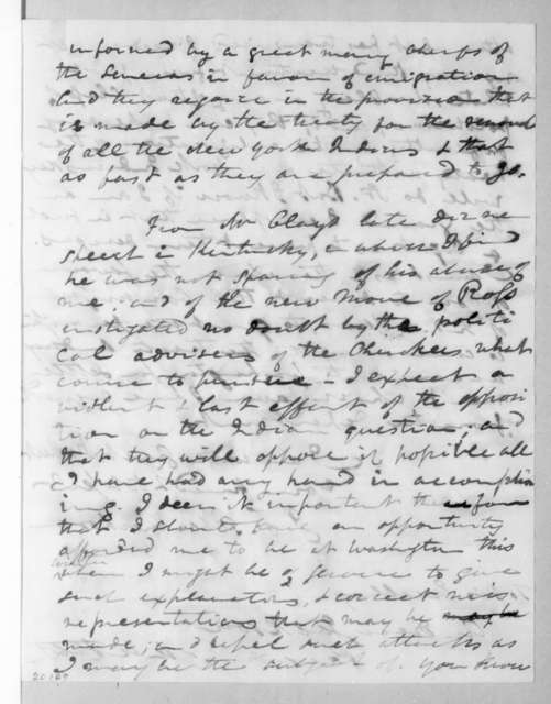 John Freeman Shermerhorn to Andrew Jackson, October 29, 1836