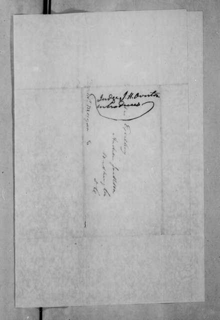 John Holmes Overton to Andrew Jackson, March 31, 1836