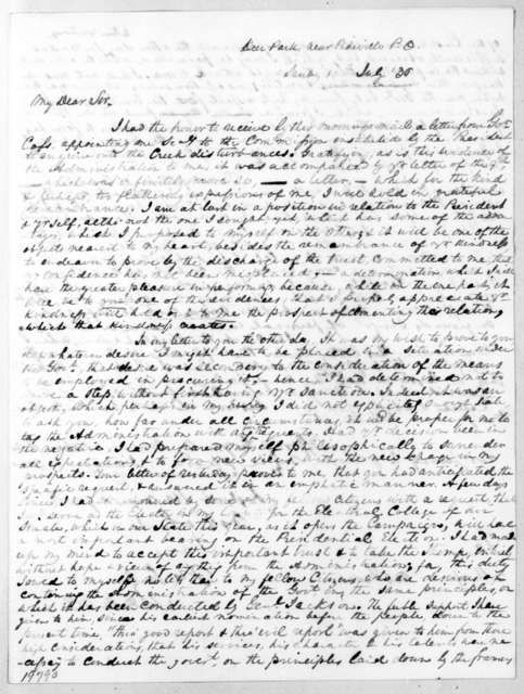 John M. Wyse to Andrew Jackson Donelson, July 10, 1836