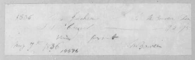 M. Bowen to Sarah Yorke Jackson, May 7, 1836