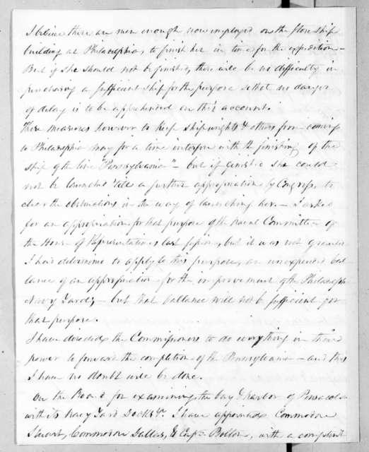 Mahlon Dickerson to Andrew Jackson, August 23, 1836