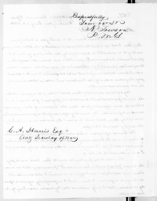 Nathan Towson to Carey A. Harris, July 25, 1836