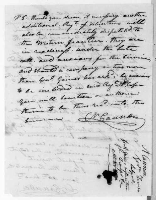 Newton Cannon to Andrew Jackson, August 4, 1836
