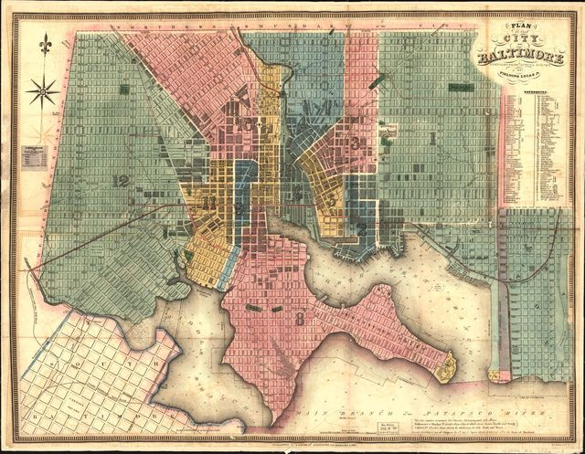 Plan of the city of Baltimore