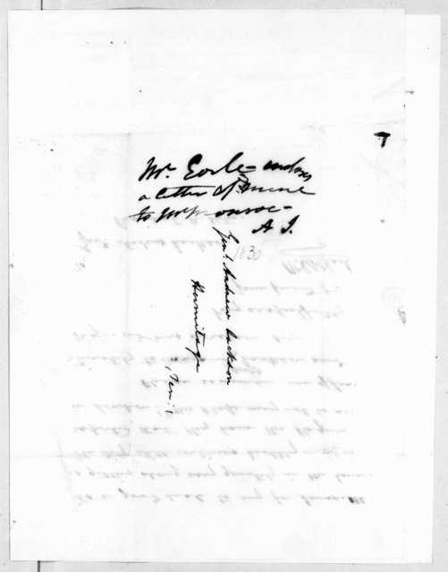 Ralph Eleazar Whiteside Earl to Andrew Jackson, July 29, 1836