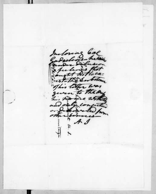 Ralph Eleazar Whiteside Earl to Andrew Jackson, July 31, 1836