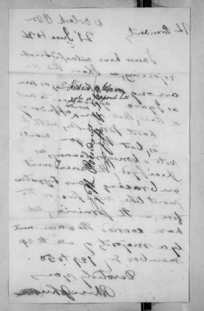 Richard Mentor Johnson to Andrew Jackson, June 21, 1836