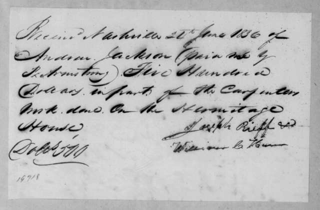 Robert Armstrong to Andrew Jackson, June 24, 1836