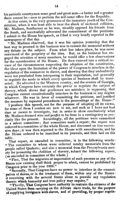 Speech of Mr. Cushing, of Massachusetts, on the right of petition, as connected with petitions for the abolition of slavery and the slave trade in the District of Columbia: in the House of representatives, January 25, 1836.