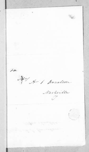 Thomas Patrick Moore to Andrew Jackson Donelson, August 23, 1836