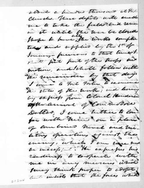 Thomas Sidney Jesup to Andrew Jackson, December 24, 1836