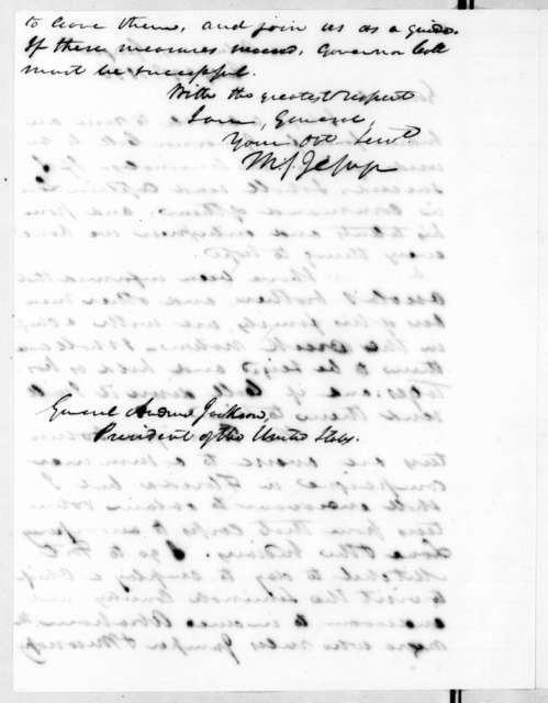 Thomas Sidney Jesup to Andrew Jackson, July 23, 1836