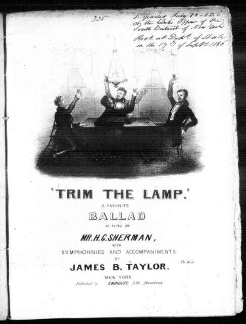 Trim the lamp, a favorite ballad