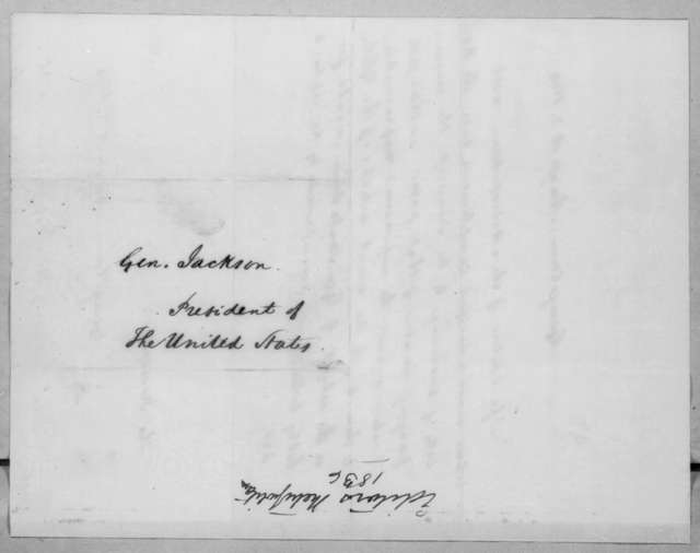 Washington D. C. Metropolitan Bank to Andrew Jackson, August 3, 1836