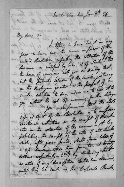William Cabell Rives to Andrew Jackson, January 4, 1836