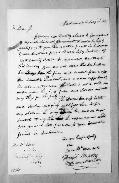 William Marshall et al. to R. Boone, January 30, 1836