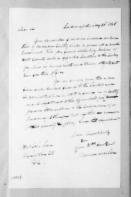 William Marshall to John Carr, January 30, 1836