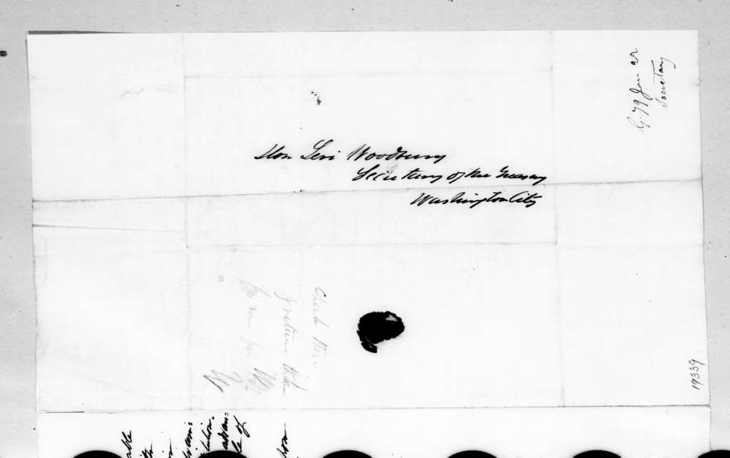 William McKendree Gwin to Levi Woodbury, January 21, 1836