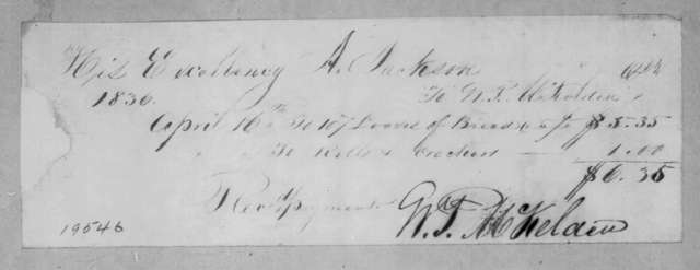 William P. McKelden to Andrew Jackson, April 16, 1836