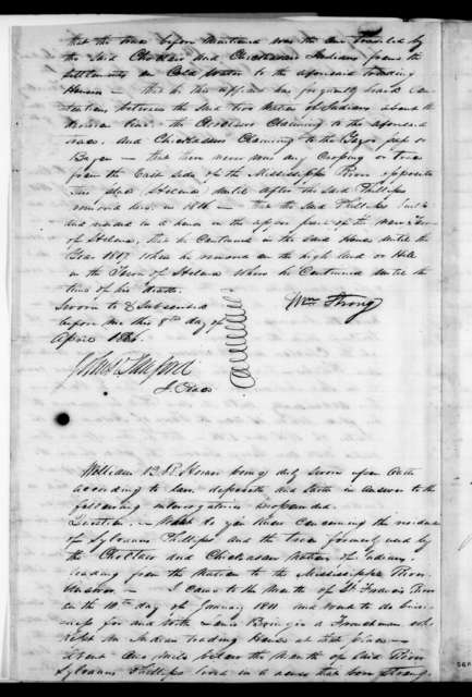 William Strong to John R. Sanford, April 8, 1836