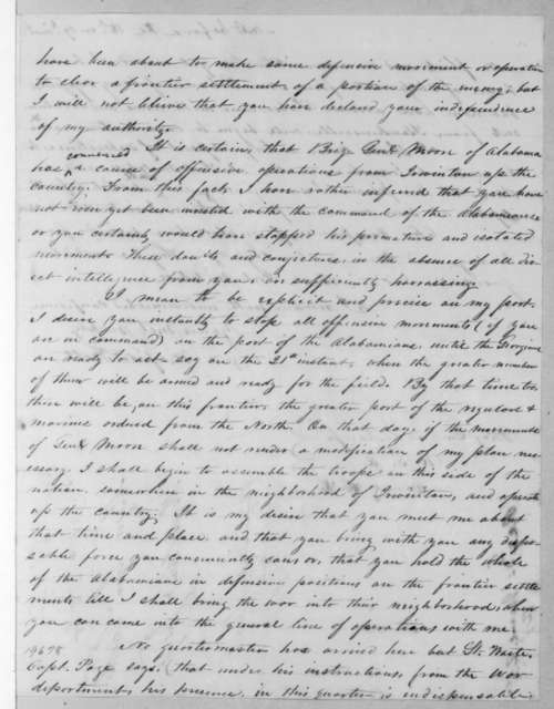 Winfield Scott to T. L. Jesup, June 16, 1836