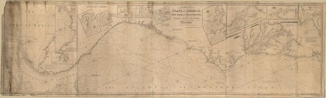 A chart of the coast of America : from New York and Philadelphia to the Strait or Gulf of Florida, and from thence to the Mississippi /