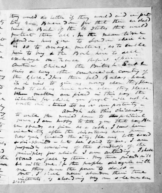 Alfred Balch to Andrew Jackson, December 22, 1837