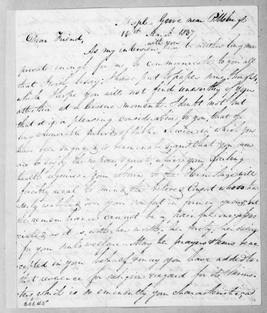 Allan Ditchfield Campbell to Andrew Jackson, March 14, 1837
