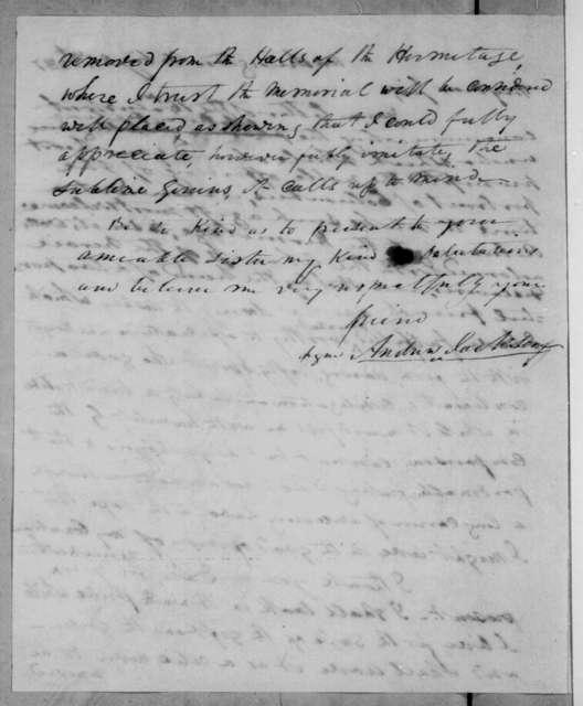 Andrew Jackson to Samuel D. Bradford, February 21, 1837