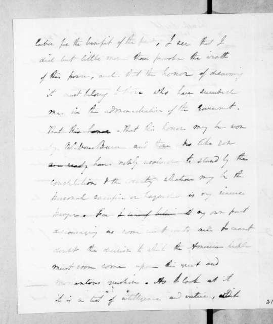 Andrew Jackson to Thomas H. Benton, November 29, 1837