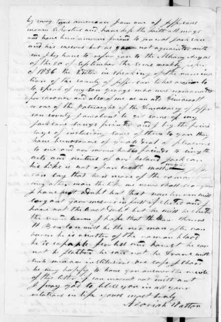 Azariah Walton to Andrew Jackson, July 16, 1837