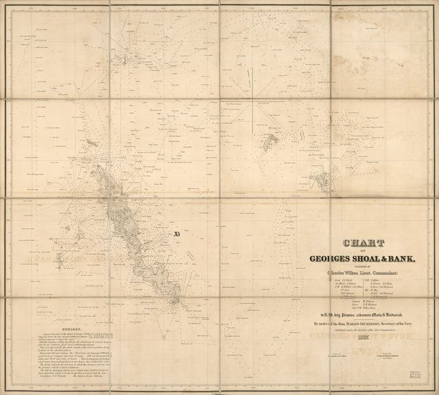 Chart of Georges Shoal & Bank /