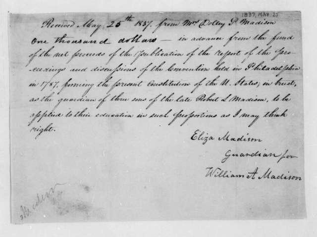 Eliza Madison to Dolley Payne Madison, May 25, 1837.