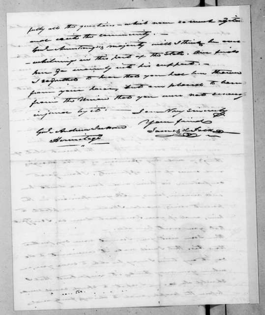 James Knox Polk to Andrew Jackson, May 29, 1837