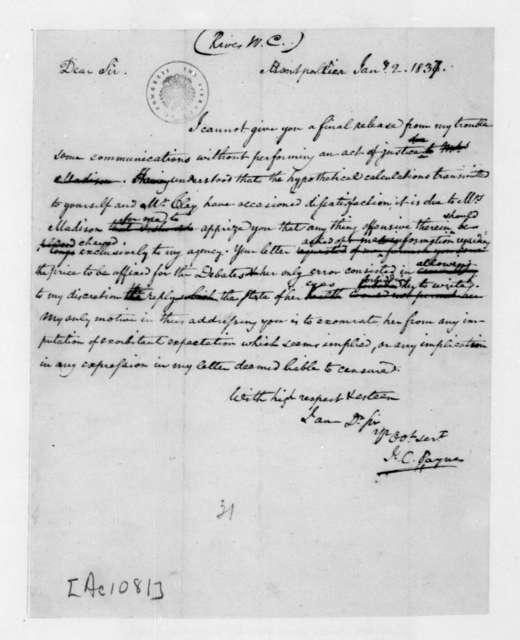 John C. Payne to William C. Rives, January 2, 1837.