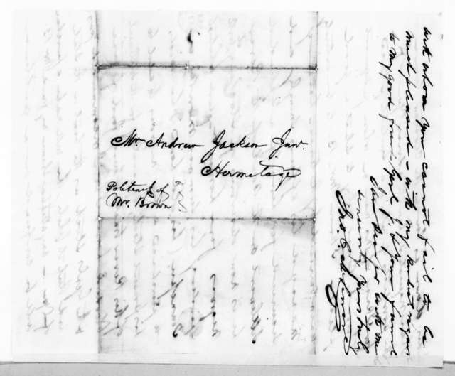 John Christmas McLemore to Andrew Jackson, Jr., July 7, 1837