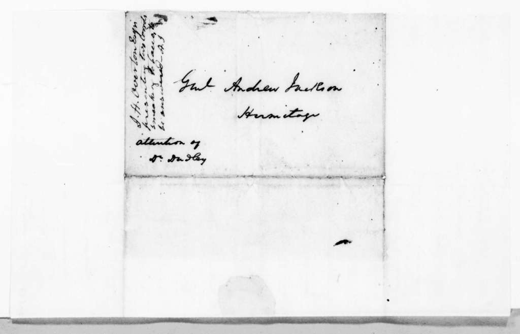 John Holmes Overton to Andrew Jackson, March 12, 1837